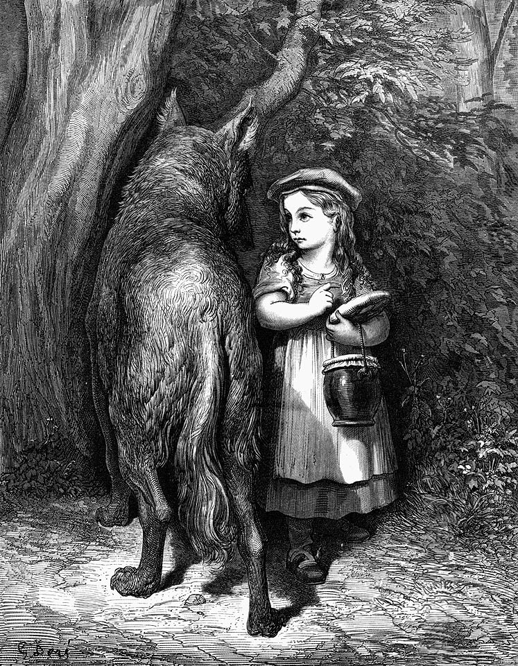 Little Red Riding Hood Punished Wolf